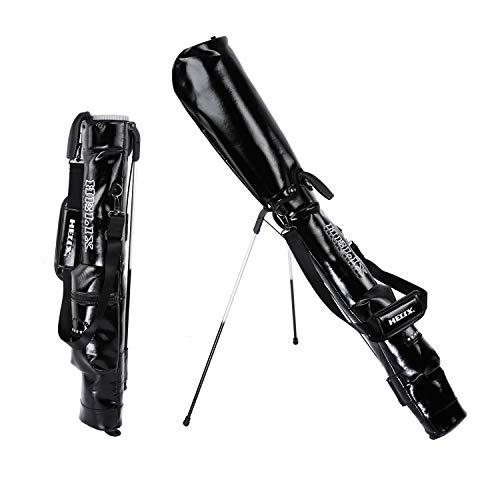 Helix Golftasche, leicht, einfach zu tragen, Golf, Sonntag, Reisetasche mit Schultern, Practice Ranger Sonntag Tasche für Damen und Herren, Pu-schwarz