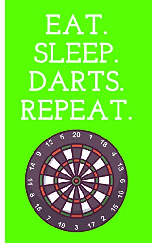 Eat Sleep Darts Repeat - Cuaderno: Planificador | Diario | Bloc de notas | Copybook | Cuaderno con motivo de dardos | cuadros | Tamaño 5 'x 8' | más de 100 páginas |para anotar deseos y notas