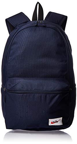 Nike Sportswear Heritage Backpack - Obsidian/Black/Orange Blaze, 45.5 x 33 x 18 cm