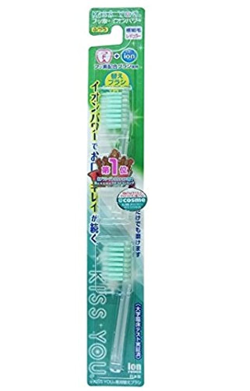 恵み説教受取人フッ素イオン歯ブラシ極細レギュラー替えブラシふつう × 6個セット