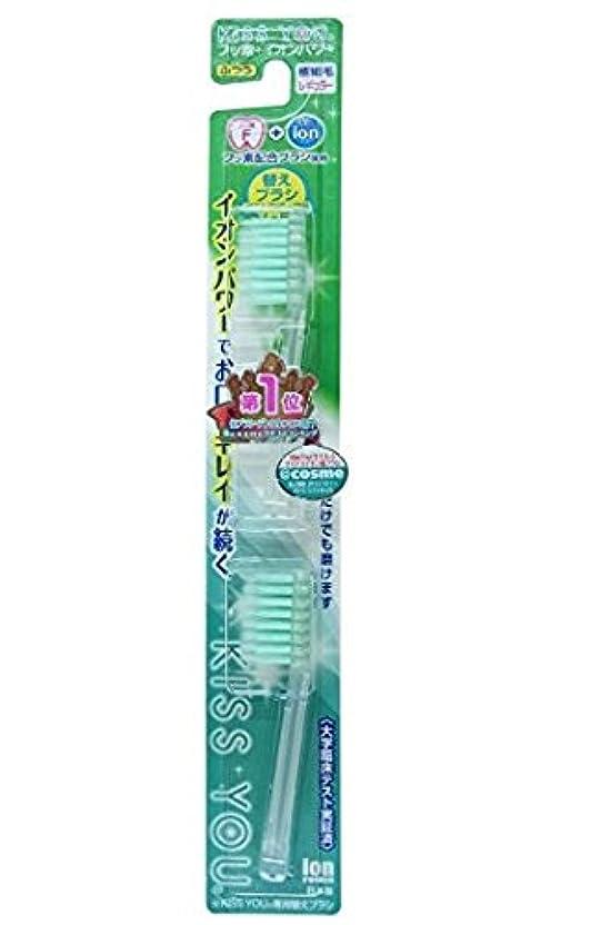 父方の調停者石フッ素イオン歯ブラシ極細レギュラー替えブラシふつう × 5個セット