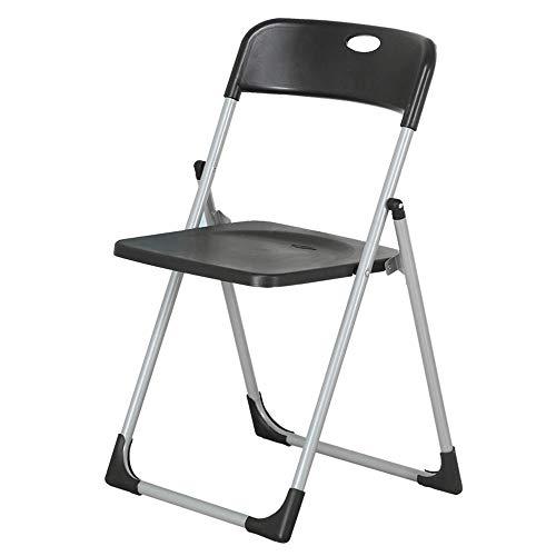 YLJB Silla de visitante Silla Plegable Respaldo Silla de Oficina Mesas de Ordenador for sillas de Escritorio y Las sillas (Color : Black, Size : 49x94cm)