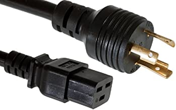 CablesAndKits Heavy Duty AC Power Cord,(Cisco P/N CAB-AC-2800W-TWLK=), 20A/250V, 12 AWG, L6-20P to C19, (NEMA L6-20P to IEC-60320-C19) 15 ft