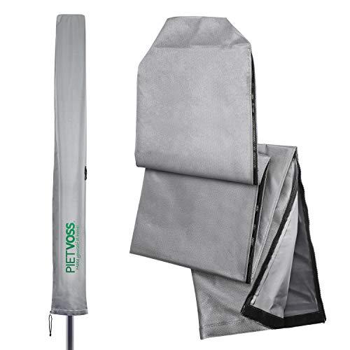 PIETVOSS Sonnenschirm Schutzhülle | Wäschespinne Schutzhülle inkl Packtasche Schirmabdeckung -Schützt vor jedem Wetter | Ampelschirm Schutzhülle