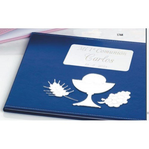 Libro de firmas para niño de comunión GRABADO libros PERSONALIZADOS con bolígrafo de regalo