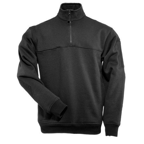 5.11 Tactical Job Sweat-Shirt 1/4 Zip Homme, Noir, FR : L (Taille Fabricant : L)