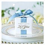 Caja de regalo de chocolate Favores de boda cuadrados creativos de estilo europeo Favores de caramelo Papel de embalaje Cajas de chocolate bolsas de regalo para suministros de fiesta de baby shower