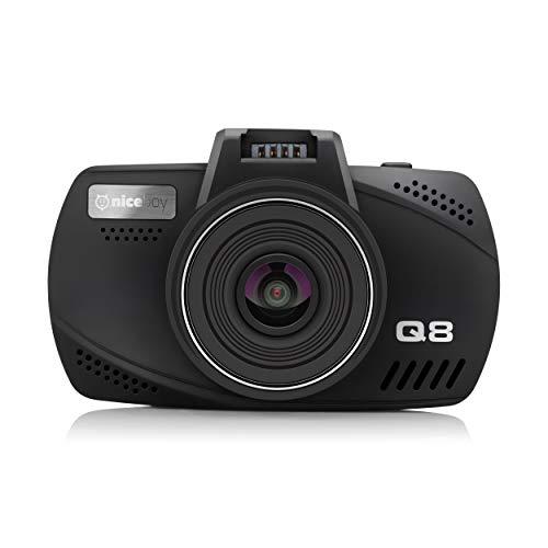Niceboy® Pilot Q8 Auto-Dashcam, Super FullHD (2304x1296p) / 30 FPS, GPS mit Geschwindigkeitsradaren, 2,7 LCD-Anzeige
