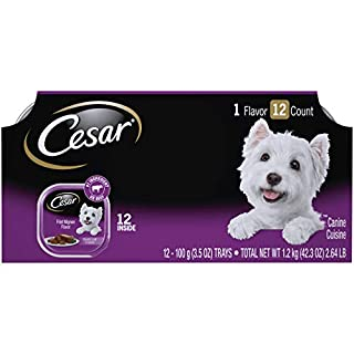 CESAR Soft Wet Dog Food Classic Loaf in Sauce Filet Mignon Flavor Multipack (24) 3.5 oz. Easy Peel Trays (B0725VRRLP)   Amazon price tracker / tracking, Amazon price history charts, Amazon price watches, Amazon price drop alerts