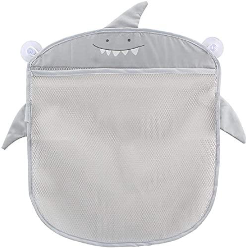 Baby Bad Spielzeug Organizer Aufbewahrung Übergroße Kinder Mesh Net Aufbewahrungstasche Zwei Hochleistungs-Saugnäpfe mit Organizer Halter Kleinkind Badespielzeug (grau) Nettes Design