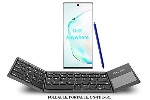 FireCable – Teclado y mousepad Bluetooth plegable para Galaxy Note 8 y 9 DeX | Compacto, de bolsillo |…