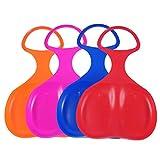 Generic 4 X Schneeflitzer zum Rodeln Schneerutscher mit Griff Schlitten für Kinder - Im Freien Sand Gras Schneegleiter (Farbe Auswahl variiert)