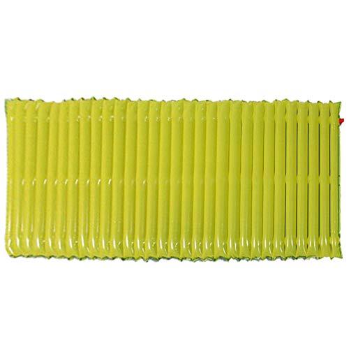 Liujaos Colchón Inflable de plástico Resistente a la Humedad, colchón Inflable Suave, para Acampar en la Playa, fácil de Llevar, Ligero(Azul)