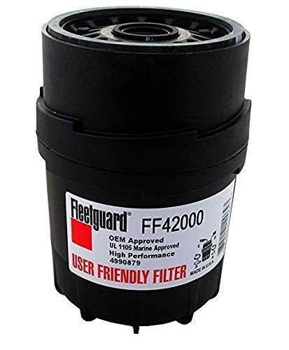 FF42000 Fleetguard Filtro de combustible, versión fácil de usar (Cummins 4990879, P553004, BF788)