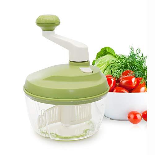WSNH888 Multifunktionslebensmittelverarbeiter Küche Manuelle Lebensmittel Gemüse Chopper Cutter Mixer Salat Hersteller Eier Stirrer Küche Koch Werkzeuge Mincer Von Kurbelgriff Grün