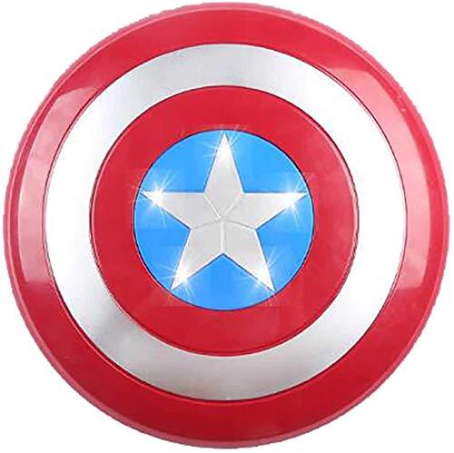 Avengers- Escudo Capitán América Uno Tamaño 1: 1 Apoyos de Película Vengadores Marvel Capitán América Disfraz de Shield Escudo Capitan America Niños A,32cm