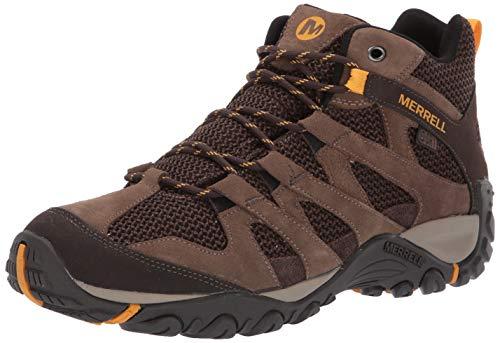 Merrell mens Alverstone Mid Waterproof Hiking Shoe, Merrell Stone, 11.5 US