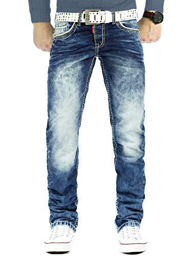 Cipo & Baxx Herren Jeans Mens Pants Freizeit-hose Clubwear Designer Style Top 32W / 34L Blau