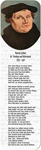 Lesezeichen aus Metall mit gerader Kontur   Martin Luther #Luther_II