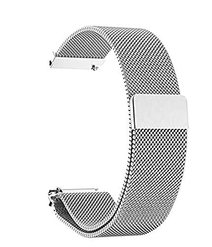 Correa de reloj Milan - 18 mm 20 mm 22 mm Ancho de orejeta Correa de metal de acero inoxidable Barras de resorte de liberación rápida Banda de reemplazo de bloqueo magnético para hombres y mujeres