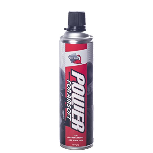Airsoft greengas Puff Dino botella 450 ml (con lubricante) para pistolas de ABS