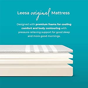 Leesa Mattress, King, 10inch Cooling Avena and Contouring Memory Foam Mattress, Supportive Multi-Layer Design, 100 Night Trial and 10 Year Warranty
