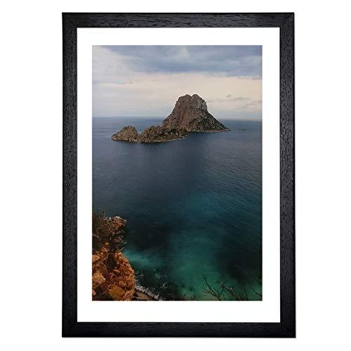 ART&FOTO BARCELONA Marco de Fotos Hecho a Mano 100% Artesanal de Madera y Cristal DIN A3