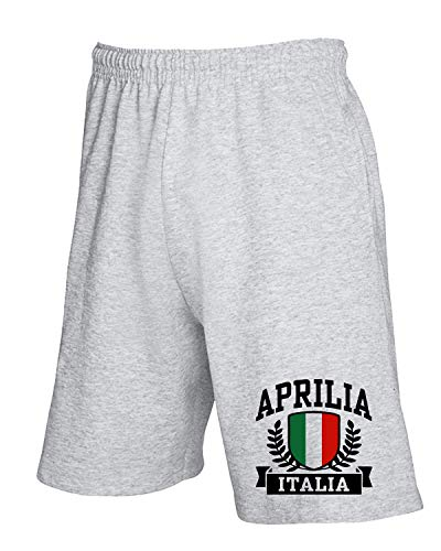 T-Shirtshock Jogginghose Shorts Grau TSTEM0002 Aprilia Italia