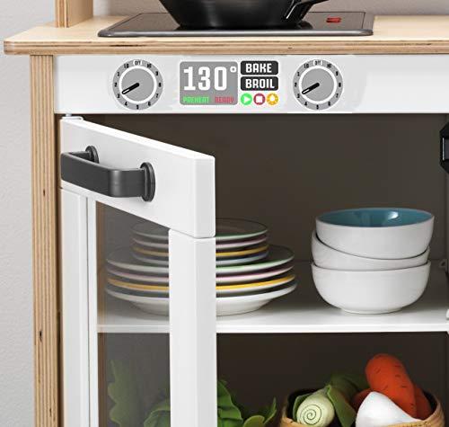 ASVP Shop IKEA Duktig Play Kitchen Aufkleber für Ofen und Mikrowelle