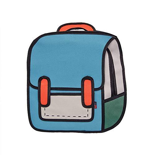 Lässige Tagesrucksäcke Mode Frauen Zeichnung Rucksack Springen Stil Cartoon Schultasche Für Mädchen Im Teenageralter Jungen Bagpack