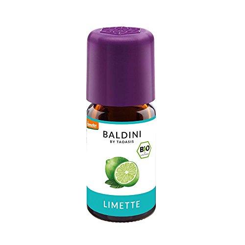 Baldini - Limettenöl BIO, 100{0192b3ea9c7228e69542e759c8243a767d603a66b4cfc72ecdce57a485ea9977} naturreines ätherisches BIO Limetten Öl fein, Bio Aroma, 5 ml