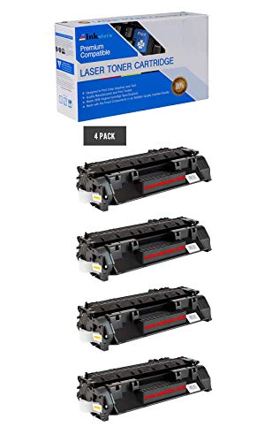 Inksters Compatible Toner Cartridge Replacement for HP 80X CF280X Black - Compatible with Laserjet Pro 400 M401A M401D M401DN M401DW M401N M425DN M425DW (4 Pack)