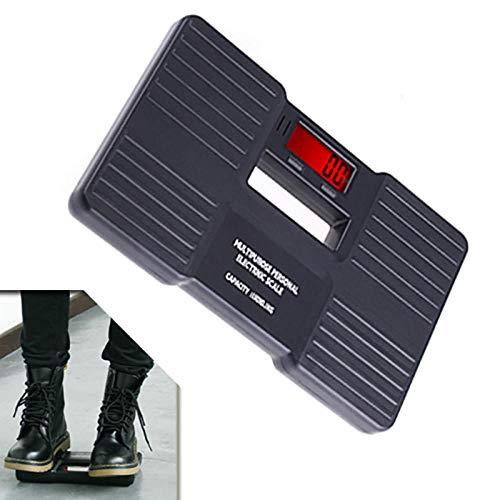 PRWJH Échelle de poids corporel, échelle personnelle, balances au sol de salle de bains, pesage de santé électronique, 150 kg, noir