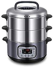 DYB Cuiseur électrique à Vapeur Domestique en Acier Inoxydable en Acier Inoxydable à Trois Couches cuiseur à Vapeur électr...