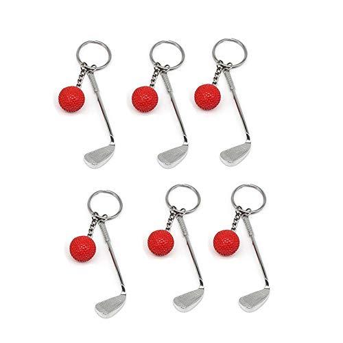 Bequem Mini Golfschläger Ball Anhänger Schlüsselbund Schlüsselanhänger Modische Metall Schlüsselverschlüsse Split Schlüsselanhänger Für Sportvereine 6 Stücke dauerhaft ( Farbe : C6 , Größe : Free )