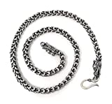 Sterling Silver Dragon Chain - Handmade Vintage 925 Necklace (24, 5.5mm)