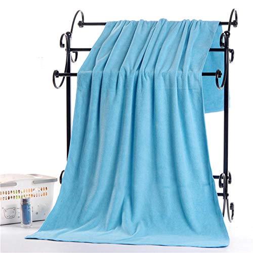 Lyolk Toalla de baño Grande Absorbente, Toalla Grande para Hombres y Mujeres-Azul Lago Grosor Medio_200x100cm