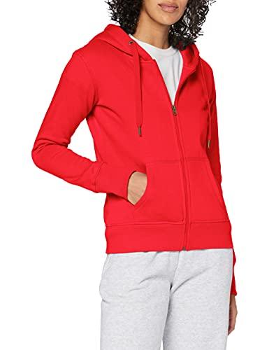Stedman Apparel Active Sweatjacket/ST5710 - Sudadera para mujer, color rojo (carmesí), talla 40