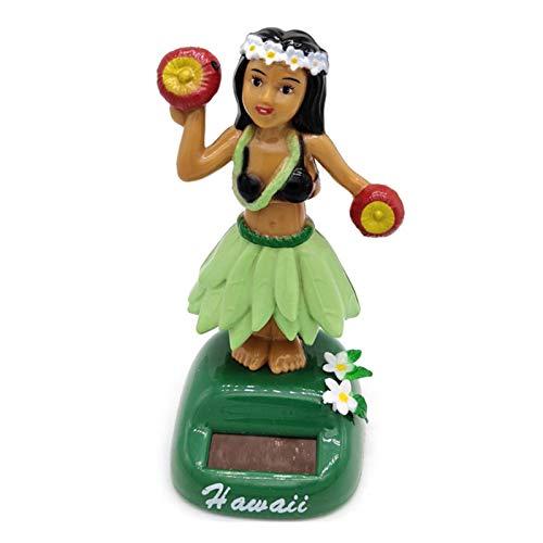 tackjoke Hawaii Mädchen Auto Wackel Solartanz Solar Wackelfigur Automatischer Schwung,Verwendet Für Kinderspielzeug, Heimdekoration, Autodekoration Fensterbank Büro, Schreibtisch