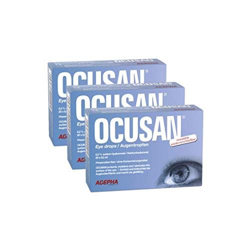Ocusan® EDO Augentropfen in Einzeldosen Mit Hyaluronsäure und Ohne Konservierungsstoffe I Hilft gegen trockene, rote Augen und juckende Augen | Kontaktlinsen Geeignet
