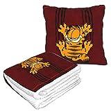 XCNGG Garfield Cartoon Cat Blankets Pillow Combo 2 en 1 Mant