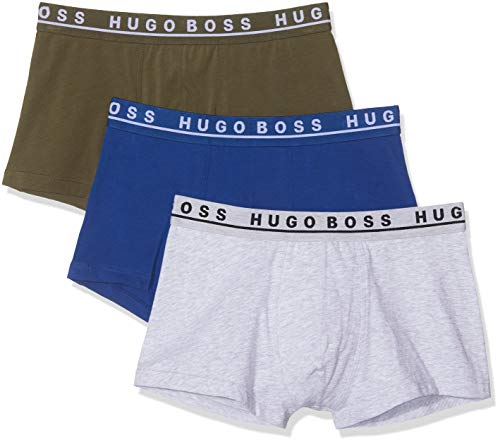 BOSS Herren Trunk 3p Co/EL Boxershorts, Mehrfarbig (Open Miscellaneous-966), L (3er Pack)
