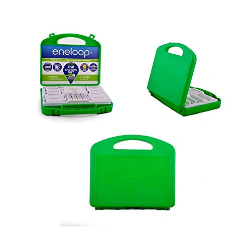 Panasonic Eneloop Rechargeable Battery Kit/Set 6 x AA, 4 x AA, with C and D adapters (Original Version)