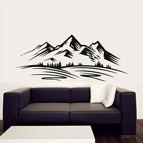 Berg Klettern Wandaufkleber Wald nach Hause kreative Wanddekoration Wohnzimmer Vinyl Wandtattoo Schlafzimmer Dekoration Tapete Wandbild A9 L 98x42cm
