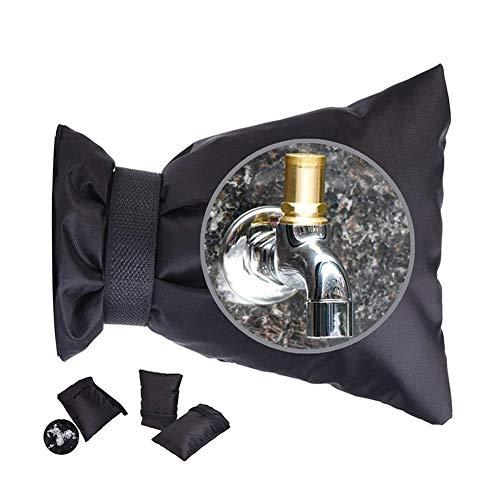 Lanceasy Outdoor-Wasserhahn-Abdeckung, Schutzsocken, wiederverwendbar, für Wasserhähne, Isolierung, Frostschutz Schwarz