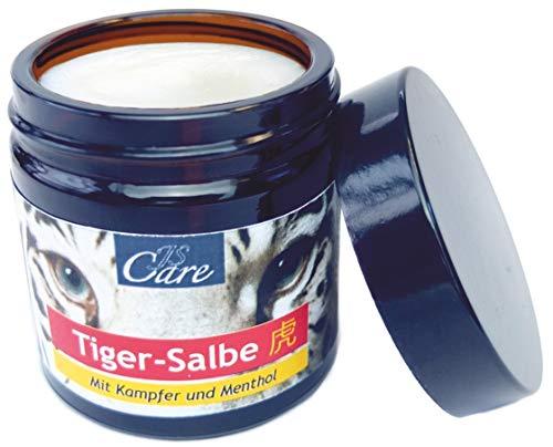 JS Care Tiger-Salbe | revitalisierend für Muskeln und Gelenke | Kopfschmerzen | Erkältungsbeschwerden | 50 ml
