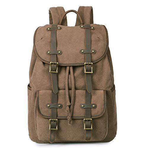 Der beiläufige wasserdichte Segeltuch-Rucksack der Männer passt 15 Zoll-Laptop-Weinlese-Rucksack der hohen Kapazität für den Rucksack der Reise DailyMen's Geschäfts-beiläufigen Rucksack -Multi-Funktio