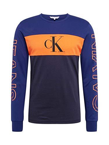 Calvin Klein Jeans heren Blocking Statement Ls Slim Tee T-shirt
