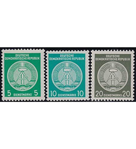 Goldhahn DDR Dienstmarken Nr. 18II,19II und 22II postfrisch ** Briefmarken für Sammler
