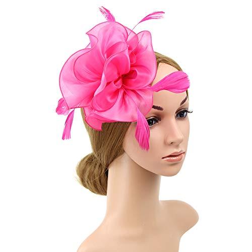 iKulilky - Sombrero para niña y Mujer, diseño de Flores Rosa Rojo. tamaño único
